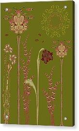Blob Flower Garden Acrylic Print