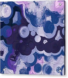 Acrylic Print featuring the digital art Blobs - 11c2b by Variance Collections