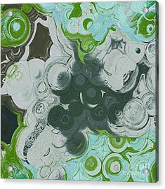 Acrylic Print featuring the digital art Blobs - 13c9b by Variance Collections