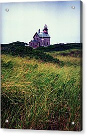 Block Island Light-house Acrylic Print by John Scates