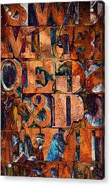 Block Letters Variation 2 Acrylic Print by Tony Ramos
