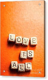Block Quotes On Love Is All  Acrylic Print