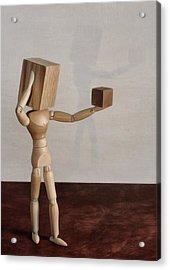 Blockhead Acrylic Print by Mark Fuller