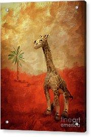Acrylic Print featuring the digital art Block's Great Adventure by Lois Bryan