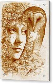 Blodeuwedd Acrylic Print by Yuri Leitch