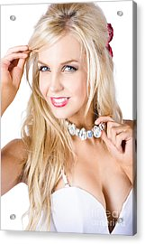 Blond Woman With Necklace Acrylic Print by Jorgo Photography - Wall Art Gallery