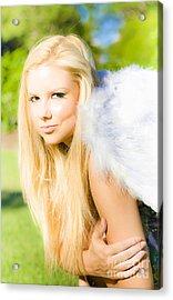 Blonde Angel Acrylic Print by Jorgo Photography - Wall Art Gallery