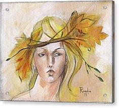 Blonde Autumn Forward Acrylic Print by Jacque Hudson