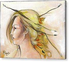 Blonde Autumn Left Acrylic Print by Jacque Hudson