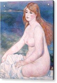 Blonde Bather II Acrylic Print by Renoir