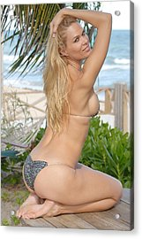 Blonde Beach Babe Acrylic Print