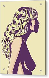 Blonde Acrylic Print by Giuseppe Cristiano