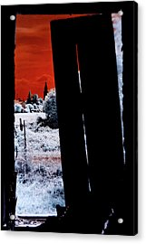 Blood And Moon Acrylic Print by Helga Novelli