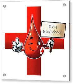 Blood Donor Acrylic Print by Petar Lazarov