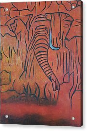 Blood Ivory Acrylic Print
