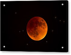 Blood Moon Lunar Eclipse 2015 Acrylic Print by Saija  Lehtonen
