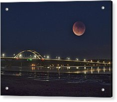 Blood Moon Over Alsea Bay Acrylic Print