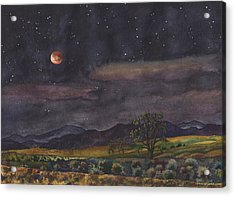 Blood Moon Over Boulder Acrylic Print