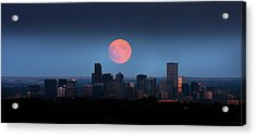 Blood Moon Over Denver Acrylic Print