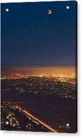Blood Moon San Diego Acrylic Print