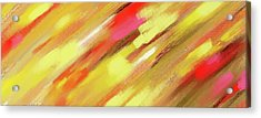 Blood On The Wall - Abstract Painting Acrylic Print