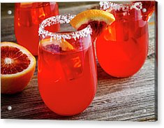 Acrylic Print featuring the photograph Blood Orange Margaritas by Teri Virbickis