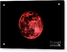 Blood Red Moonscape 3644b Acrylic Print