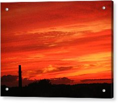 Blood-red Sky Acrylic Print