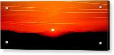 Blood Red Sunset Acrylic Print by Az Jackson