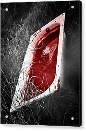 Bloody Bathtub Acrylic Print by Wim Lanclus