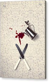 Bloody Dining Table Acrylic Print by Joana Kruse