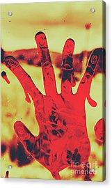 Bloody Halloween Palm Print Acrylic Print by Jorgo Photography - Wall Art Gallery