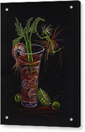 Acrylic Print featuring the drawing Bloody Mary by Dawn Fairies