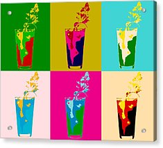 Bloody Mary Pop Art Panels Acrylic Print by Dan Sproul