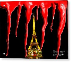 Bloody Paris - November 13, 2015 Acrylic Print by Al Bourassa