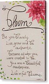 Bloom Acrylic Print by Elizabeth Robinette Tyndall