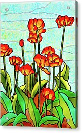 Blooming Flowers Acrylic Print by Farah Faizal