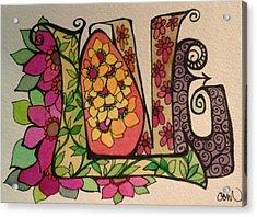 Blooming Love Acrylic Print by Claudia Cole Meek