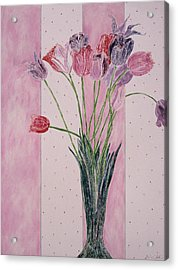 Blooming Tulip Colors Acrylic Print