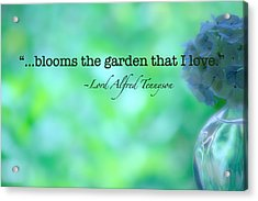Blooms The Garden Acrylic Print by Bonnie Bruno