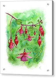 Blossom Fairies Acrylic Print