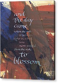 Blossom II Acrylic Print by Judy Dodds