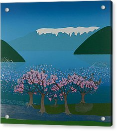 Blossom In The Hardanger Fjord Acrylic Print by Jarle Rosseland