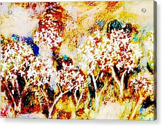 Acrylic Print featuring the painting Blossom Morning by Winsome Gunning