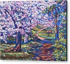 Blossom Season - Plein Air Acrylic Print by David Lloyd Glover