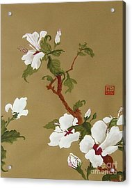 Blossoms - Chinese Watercolor Painting Acrylic Print