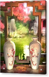 Blossoms And Vases  Acrylic Print by Joel Payne