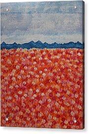 Blossomtime Original Painting Acrylic Print by Sol Luckman