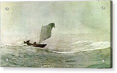 Blowen Away Acrylic Print by Winslow Homer