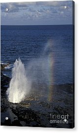Blowhole At Poipu Acrylic Print by Stan and Anne Foster